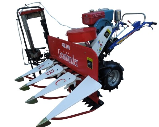 combine reaper binder for cutting and binding wheat paddy rice