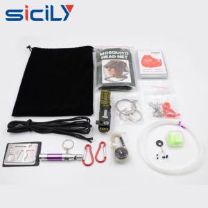 New Custom Survival Gear Kit 24 in 1, Outdoor Survival Kit Emergency Kit For Disaster Preparedness