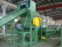 PP PE Wast plastic bags plastic films crusher washing line/plastic recycling machine