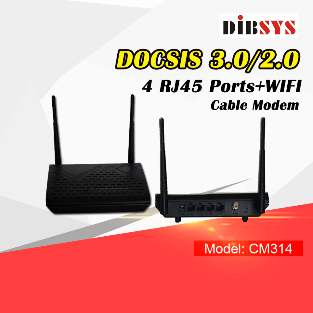 (DB-CM314) Cable Modem Docsis3.0 2.0 DVB-C RF To IP Converter Coax Cable Modem Over Ethernet