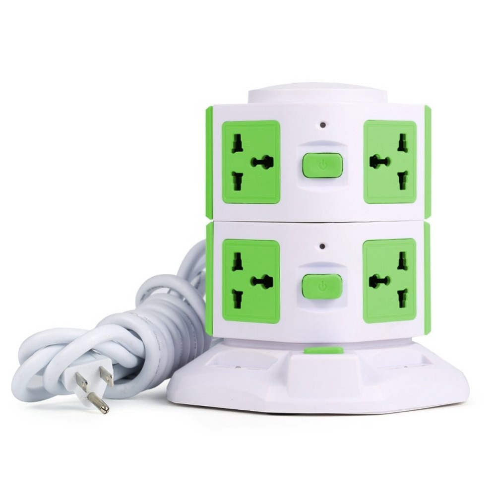 4 USB Multi extension pop up socket outlet Power Strip with 8 Sockets Support EU / US / UK
