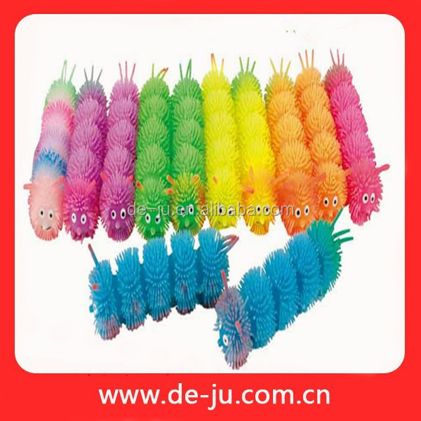 Flashing Toys Puffer Inflatable Plastic Caterpillar Toy