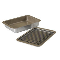 Grilling And Baking Microwave Grill Pan With Baking Sheet