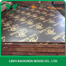 Linyi black/brown film faced plywood for construction/concrete shuttering plywood