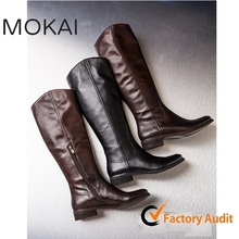 MK25-15-BLACK Wholesale china women shoes Italian leather shoes knee high boots