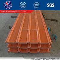 china corrugated roofing sheet corrugated color coated steel sheet with price