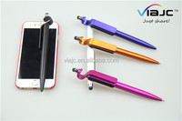 Nice design screen touch pen stationery phone holder plastic ballpoint stylus pen in factory price