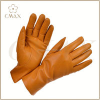 professional women sheepskin motorbike leather gloves