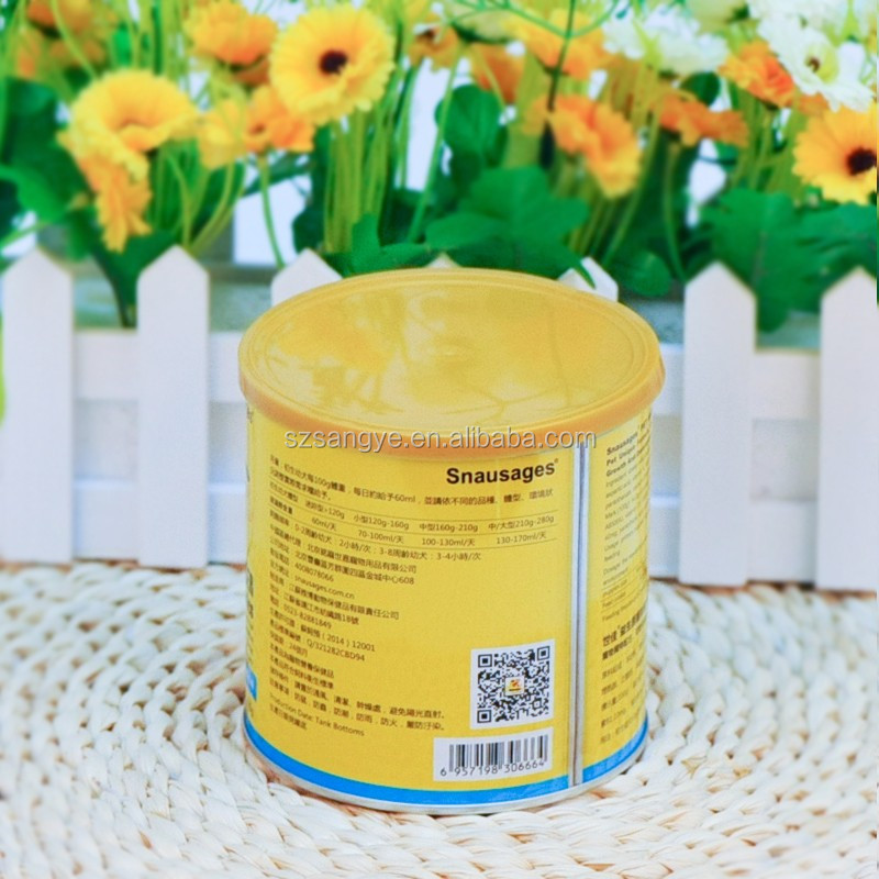 300g Milk Food Packaging Tin Cans for Dried Food
