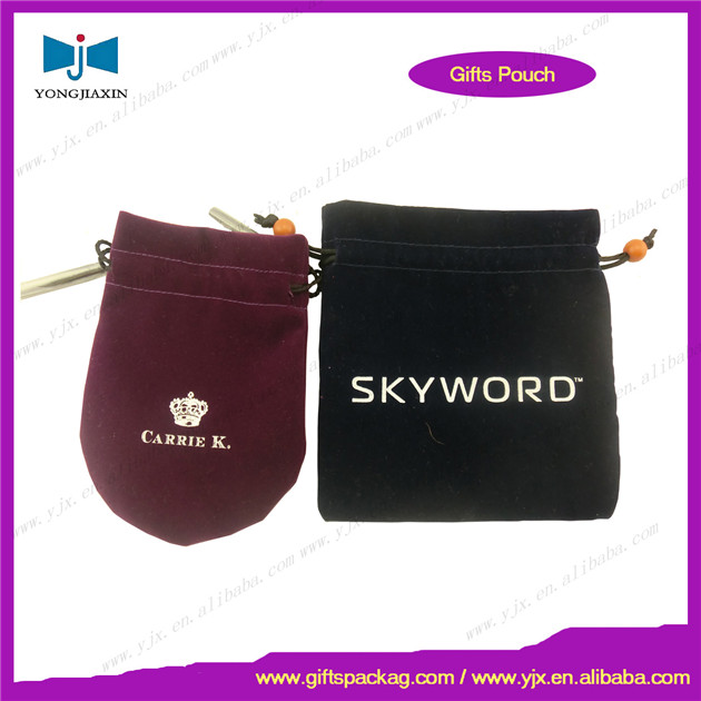 custom velvet jewelry bag OEM