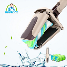 BOOMJOY hot sale magic 360 rotating twist floor cleaning mop/ hands free microfiber flat mop