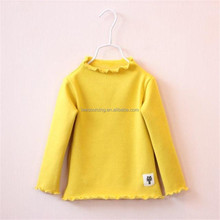 Wholesale Kids Top Clothes Long Sleeve Girls Cotton T Shirt In Bulk Plain