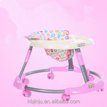 new model Pink 8 wheels baby walker