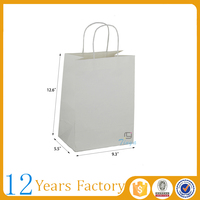 white kraft greaseproof paper bag for food