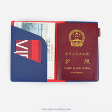 PU leather material embossed passport card cover