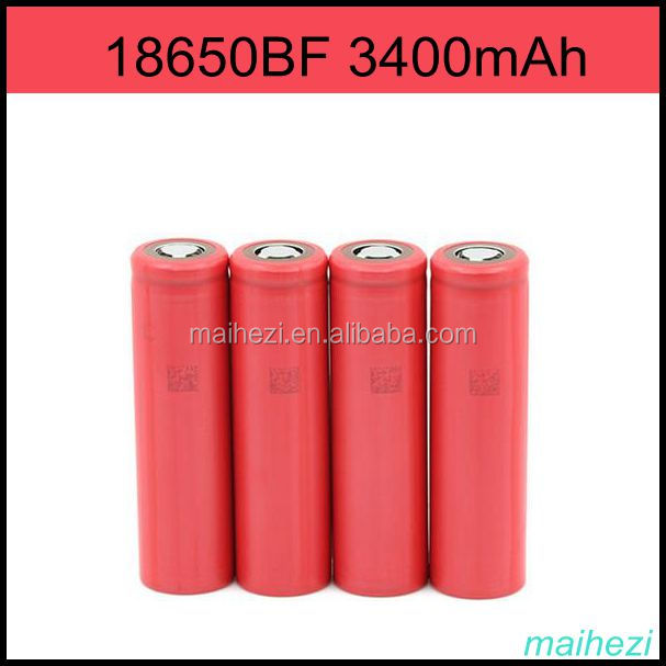 new stock Nominal Voltage 3.6V-4.2V battery cell 18650 primary battery 3400mAh 18650bf