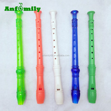 Musical instrument colorful plastic recorder flute for sale
