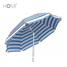 Beautiful Logo Print White Frame Parasol Beach Umbrella
