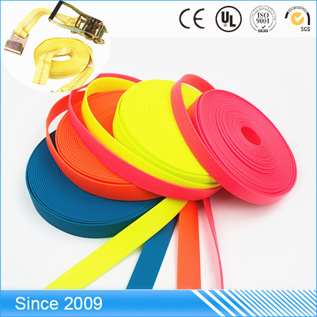 fashional color Wearable Coated Plastic heavy duty elastic dots printed webbing