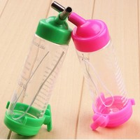 80ML.125ML Plastic Hamster Water Bottle Hanging Bowl Auto Drinking Head Pipe Fountains Water Feeder Holder Dispenser