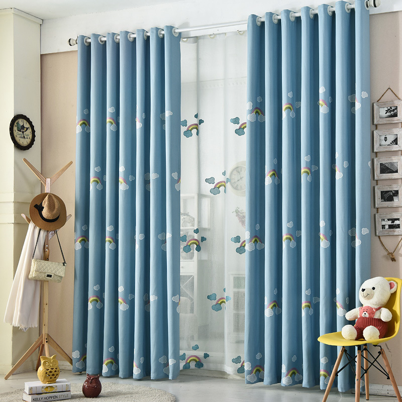 Manufacturers selling contemporary and contracted velvet linen towel embroidery window curtain of sitting room bedroom study for