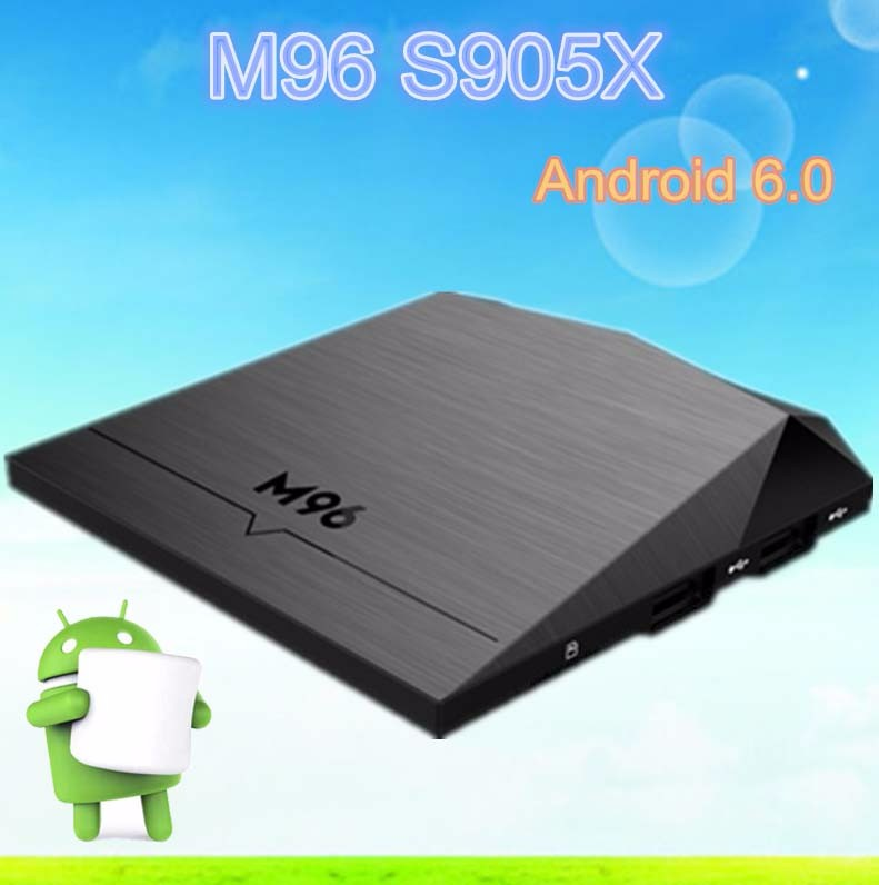 OEM M96 quad core tv box android 6.0 marshmallow tv box KODI16.1 2G8G X96 ott tv box