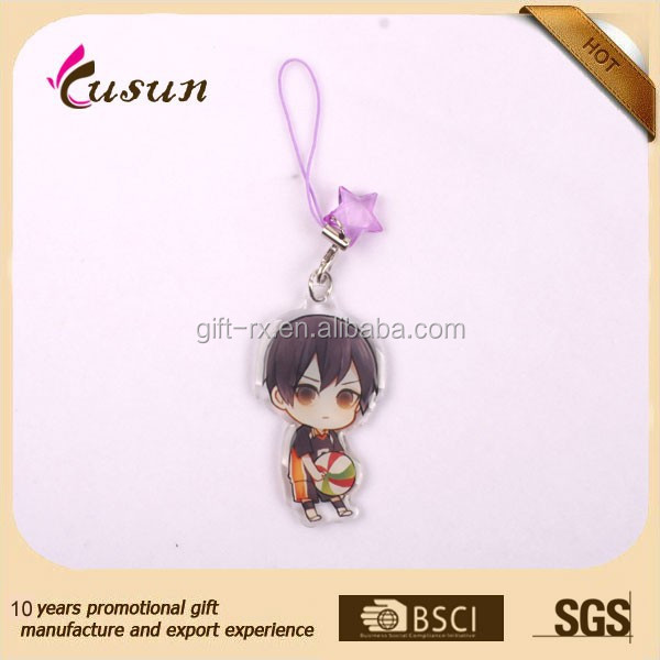 Custom printed cell phone acrylic charms for promotion
