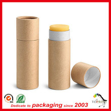 2016 Newest empty push up lip balm cardboard tubes lip balm container balm tube