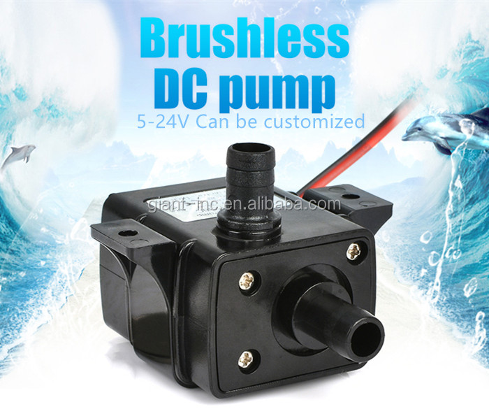 Electric Mini Submersible Pump Brushless 3v 5v 7v 9v 12v 24v Dc Water Pump For Fish Tank