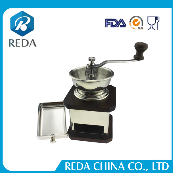 Portable small coffee grinder top sale ceramic burr manual coffee grinder steel coffee mill with hand crank
