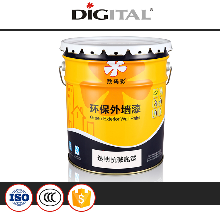 Transparent good alkali resistant wall paint primer