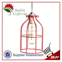 Vintage Iron Cage Edison bulb cage for new design crystal chandelier