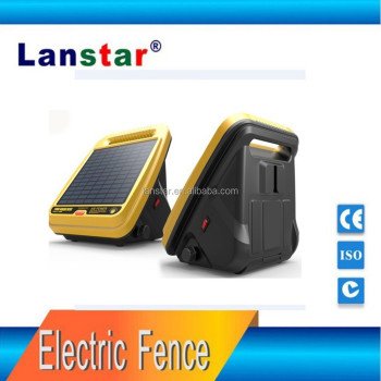 Solar power electric fence controler for cattle fencing equipment,built-in solar panel with battery charge,0.4J power shock
