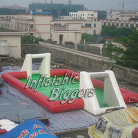 Inflatable water football field soccer court