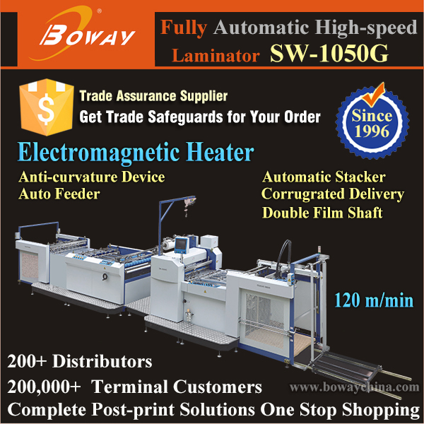 A0 A1 A2 Wide Paper Size 120m/min Automatic hot roller film laminating machine