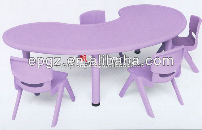 Purple kids activity table / ergonomic children study table / play table for preschool