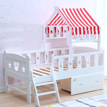 white color kid beds room furniture modern wooden cartoon children bed