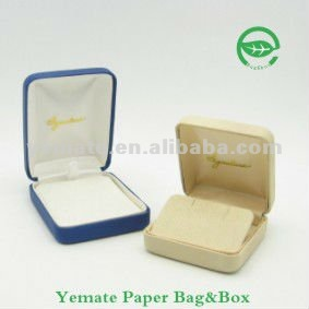 Plastic & velvet Hip hop jewelry box gold plated jewelry box jewelry packaging box