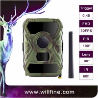 12MP 1080P PIR motion detection optional 940nm 850nm black camo scout guard gsm mms hunting trail camera