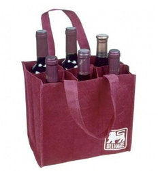 Non woven beer bag, wine glass carrying bag, 6 bottle wine bag