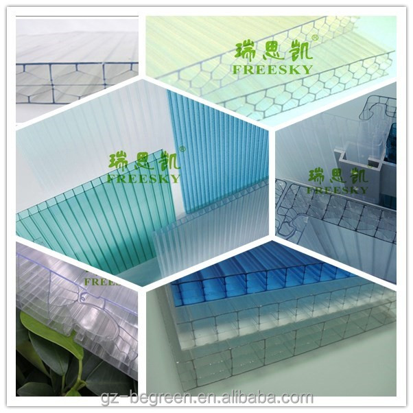 colored pc sun board plastic honeycomb polycarbonate hollow s sheet