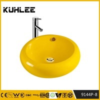 KL-9144P-7 Small size hand wash basin different color ceramic wash basin