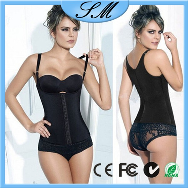 triple hook waist control shapewear/ Latex Rubber Trainer/ high waist corset