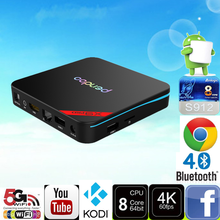 2017 Best selling Pendoo X9 Pro S912 2G 16G set top box price With Long-term Service KODI smart tv box