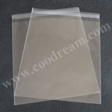 Hot sale OPP raw material plastic bags with cartoon pendant customized self adhesive and air hole