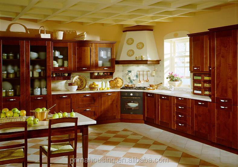 Classic kitchen items oak/cherry/walnut/maple solid wood design finish kitchen cabinets China manufacturer