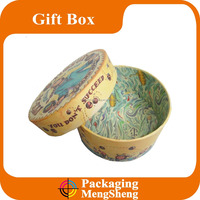 Circle shaped gift cardboard packaging box with lids