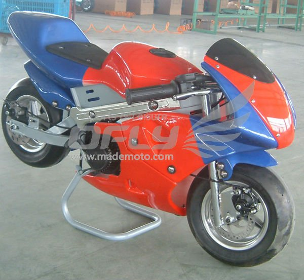 China Made 49cc pocket bikes kick start