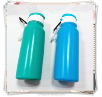 Newest China Manufacturer 500ML Squeezable Silicone Water Bottle/Silicone Sport Products