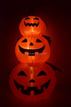 Halloween inflatable three pumpkins light decoration with low price